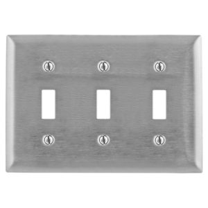Buy Hubbell Premise Wiring Stainless Steel 3-Gang Wall Plate